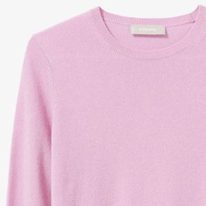 Everlane 100% Cashmere Crew Rose Pink Sweater NWT